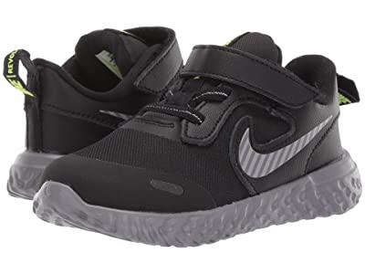 Nike Kids Revolution 5 HZ (Infant/Toddler) (Black/Reflect Silver/Gunsmoke/Volt) Boys Shoes