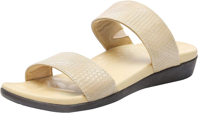 Orthotic Sandals 奉呈 直営ストア for Women Flat F Plantar Fasciitis