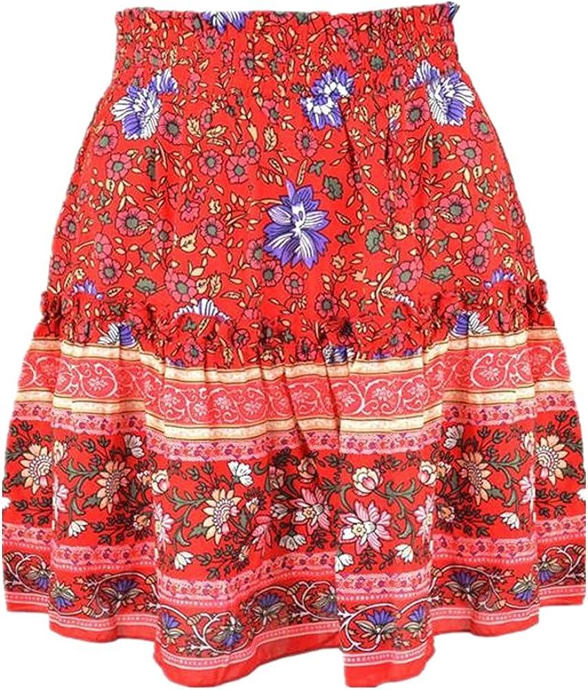 Woman Skirts Harajuku Style Celebrity Printed Bohemian National Wind