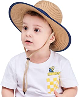 Connectyle Unisex Fedoras Boater Hat Foldable Beach Sun Protection Hats for Kids