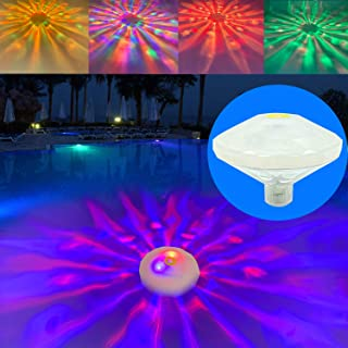 Swimming Pool Lights Floating Pool Lights Underwater Lights Pool Accessories with 7 Modes for Disco Pool Party or Pond Décor