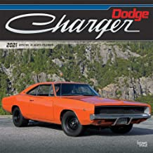 Dodge Charger 2021 12 x 12 Inch Monthly Square Wall Calendar with Foil Stamped Cover, American Muscle Motor Car