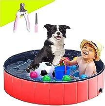 Sponsored Ad – Dog Swimming Pool 47' (120X30CM) Paddling Pool PVC non-slip Puppy Swimming Shower Bathing Bathtub Wash Tub ...