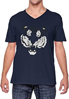 Tiger Face - Fierce Spirit Animal Unisex V-Neck T-Shirt