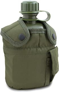 Botella agua 1.5L Cantimplora Tactical Army Bicicleta Outdoor Military Portable Aluminium Cup Sport