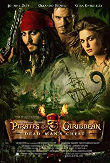 PIRATES OF THE CARIBBEAN DEAD MANS CHEST 2 MOVIE POSTER 2 Sided ORIGINAL 27x40