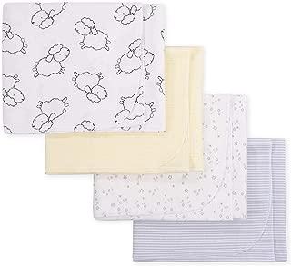 GERBER Baby Boys 4-Pack Flannel Receiving Blanket