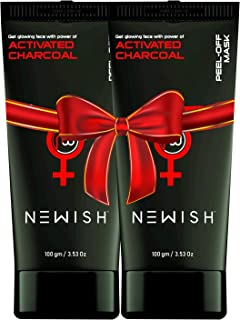 Newish Charcoal Peel off Mask For Men and Women (100gm Pack of 2)