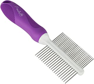 Double-Sided Pet Brush for Grooming & Massaging Dogs, Cats & Other Animals – Fur Detangling Pins & Coat Smoothing Slicker Bristles, Double The Brushing Groom Power in One Tool