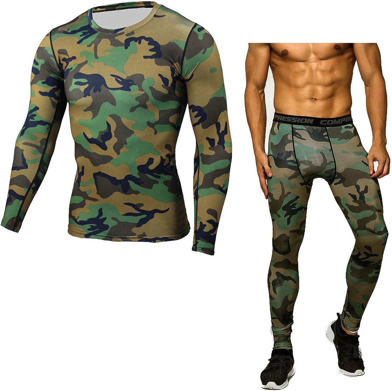 Men's Camouflage Sweatpants Baselayer Long Johns Set Sweatsuits Compression Underwear