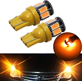 YaaGoo Compact Small bulb License Plate Lights Lamp,T10 168 194 2825 W5W,amber yellow,2pcs