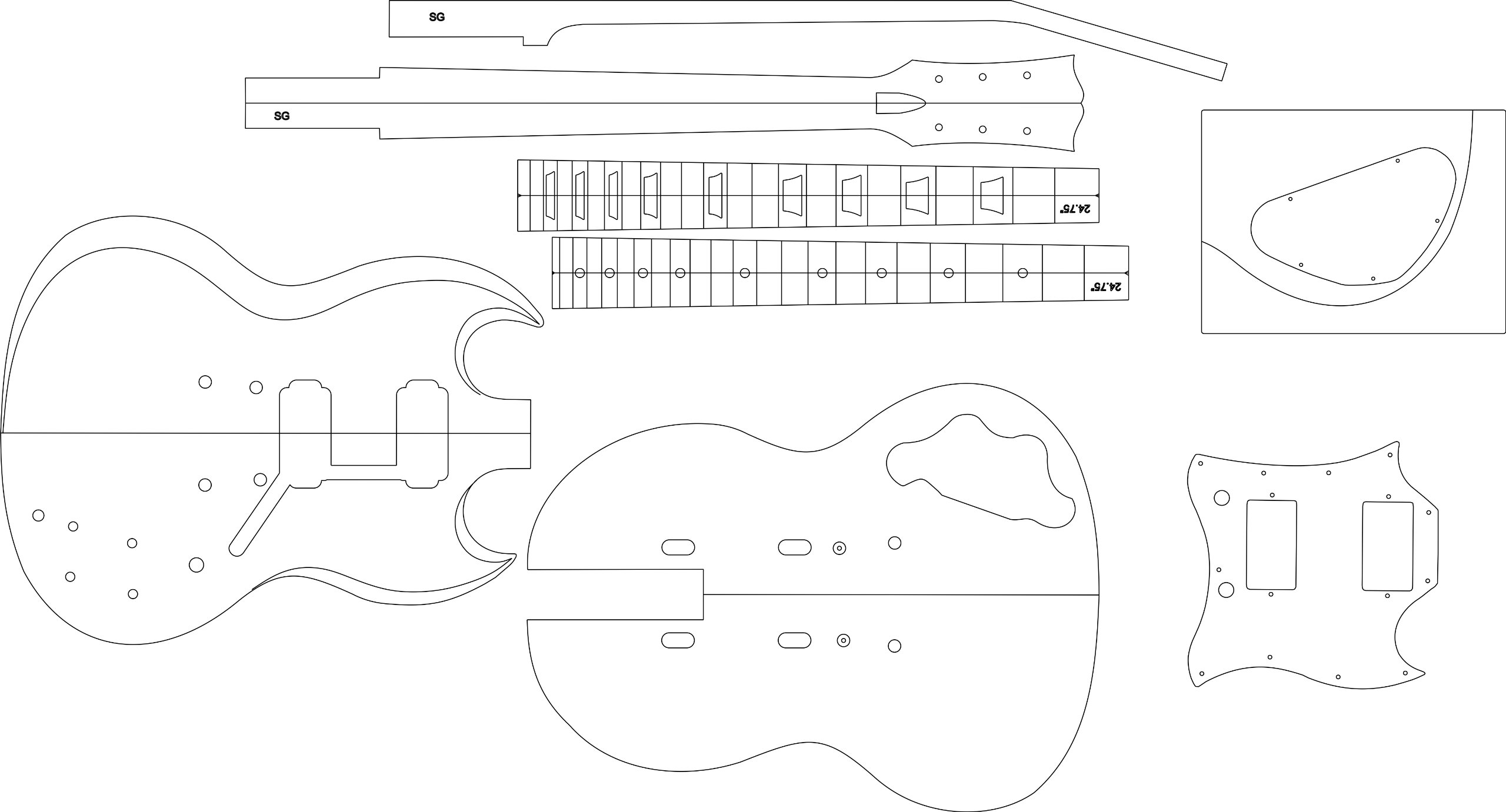 Cheap Electric Guitar Routing Template - SG Black Friday & Cyber Monday 2019