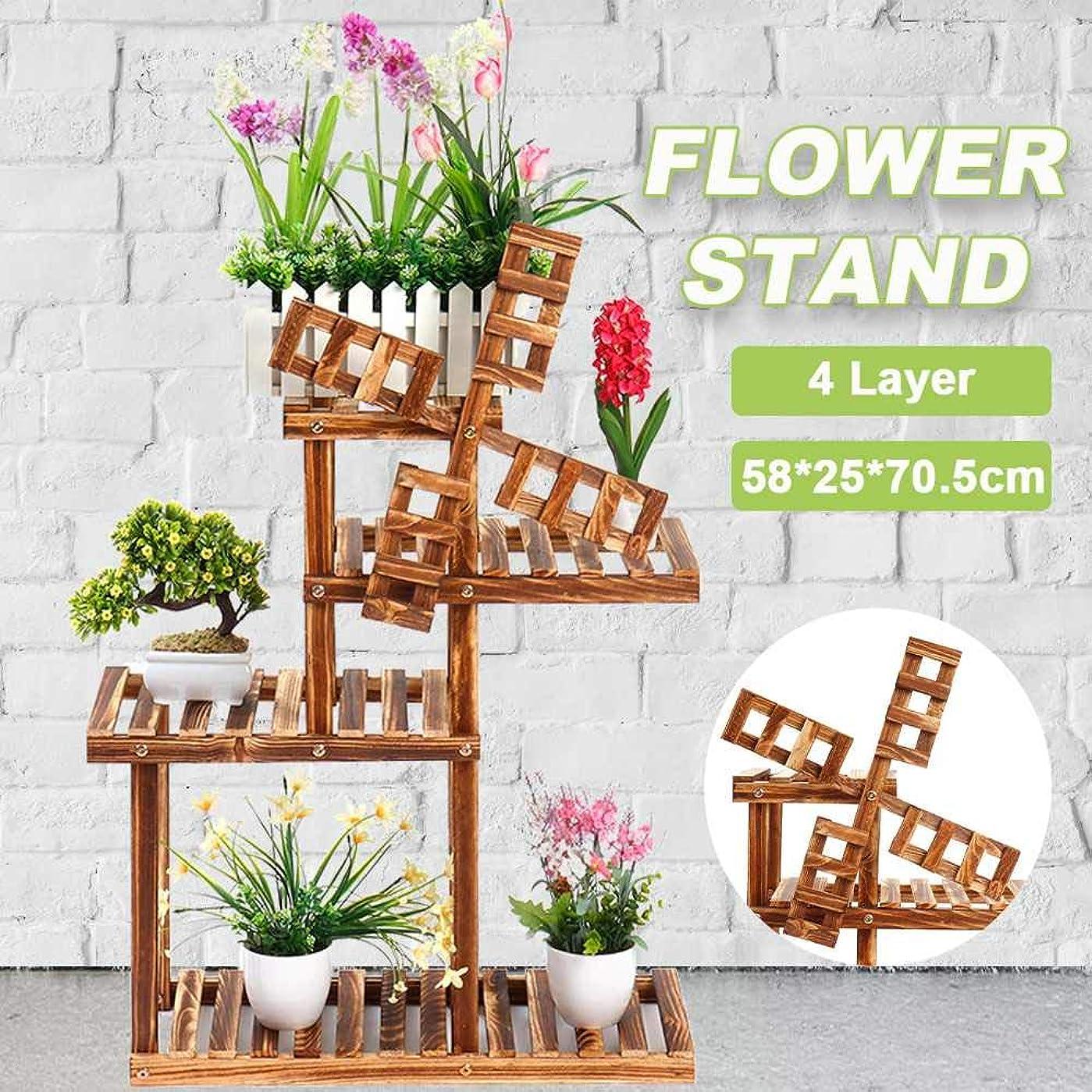 アーサーコナンドイル害値木製の花は植物のポットは、古典的なスタイルのマルチフラワー屋内盆栽展示棚ヤードガーデン棚をスタンドラック