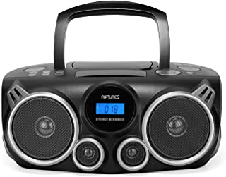 RIPTUNES Bluetooth Portable Cd Player Stereo Sound System Digital Tuner AM/FM Radio, USB/SD MP3 Cd Boombox System with Enh...