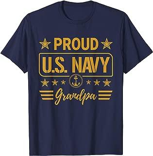 US Navy Shirt - Proud Navy Grandpa
