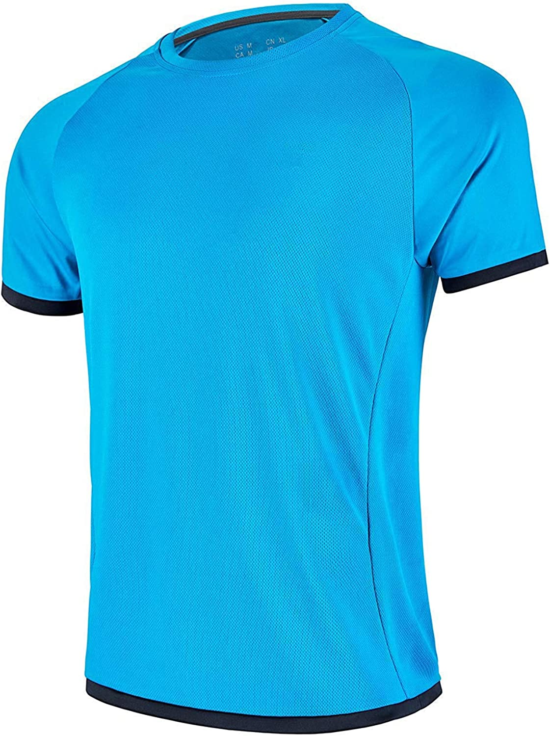 Men's-Athletic OFFicial shop Dry-Fit Shirts Running - Wicking Short overseas S Moisture