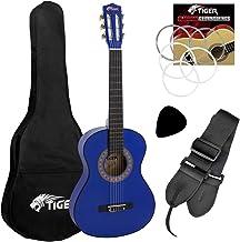 Tiger CLG6-BL - Guitarra clásica (tamaño 1/2), color azul