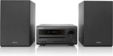 Denon D-T1 Home Theater Mini Amplifier and Bookshelf Speaker Pair - Compact Hi-Fi Stereo System with CD/FM | Perfect for S...