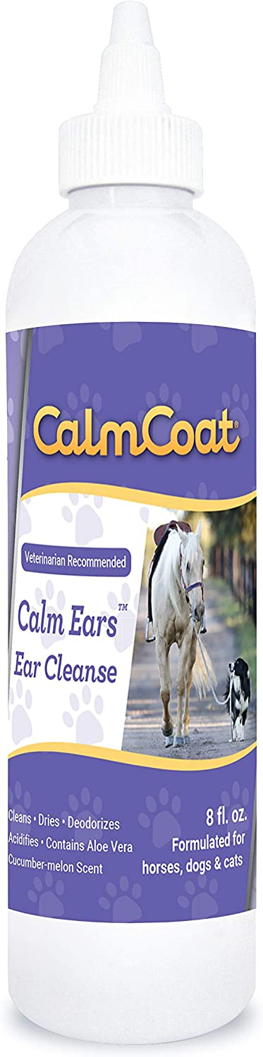 Calm Coat 1033 Ear Cleaner for Dogs Cats & Horses 8 oz