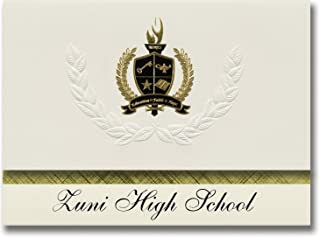Signature Announcements Zuni High School (Zuni, NM) Graduation Announcements, Presidential style, Basic package of 25 with...