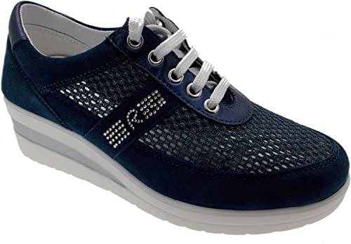 Riposella Bleu Coin paniers Lacets 75850 Art Sport Femme Chaussures Pieds