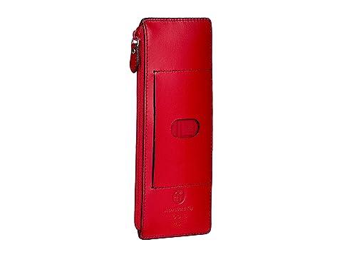cremallera Audrey rojo RFID tarjetas RFID con Accessories Estuche Lodis para Pocket wERqxwv0