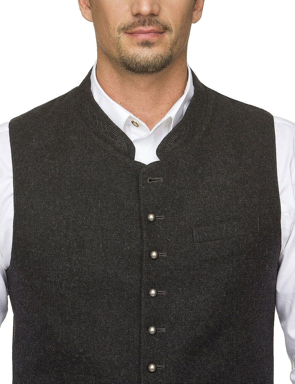 Stockerpoint Traditional Waistcoat Gilet Levon Anthracite