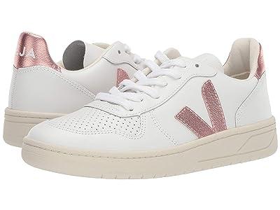 VEJA V-10 (Extra White/Nacre Leather) Women