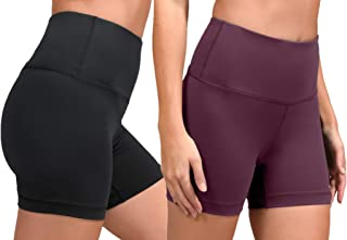 High Waist Power Flex Yoga Shorts - Tummy Control Biker...