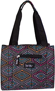 Nicole Miller of New York Insulated Lunch Cooler 11 Lunch Tote (Fiesta Black)
