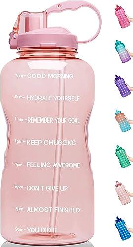 Venture Pal 64 OZ Water Bottle with Motivational Time Marker & Straw - Leakproof BPA Free Reusble Flip Top Water Bott...