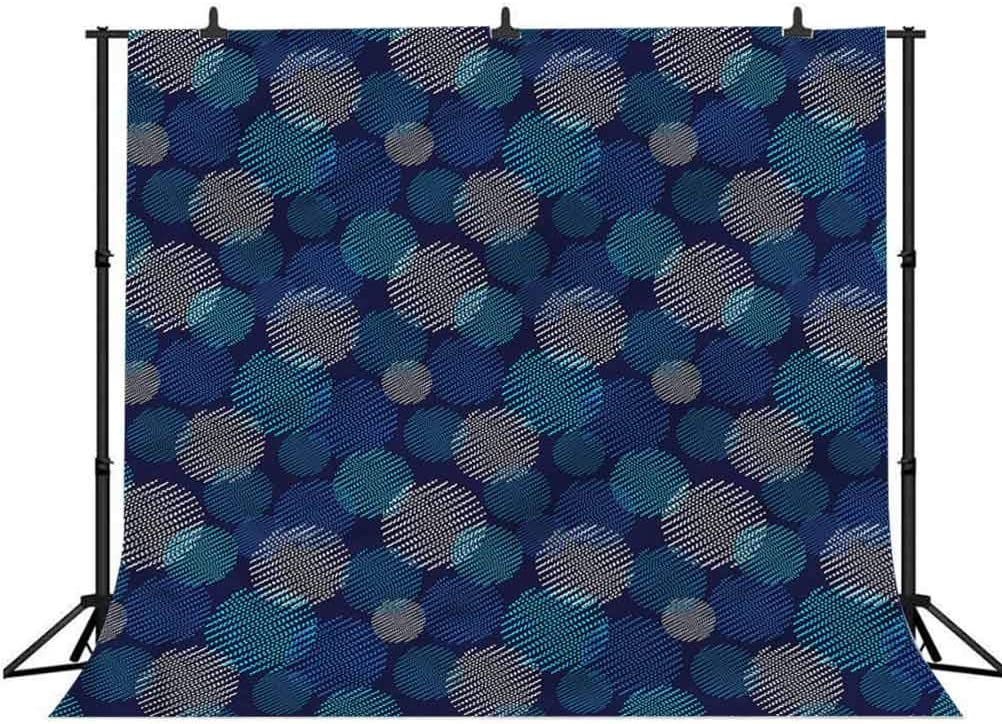 7x7FT Vinyl Photography Backdrop,Royal Blue,Classic Floral Pattern Background for Selfie Birthday Party Pictures Photo Booth Shoot