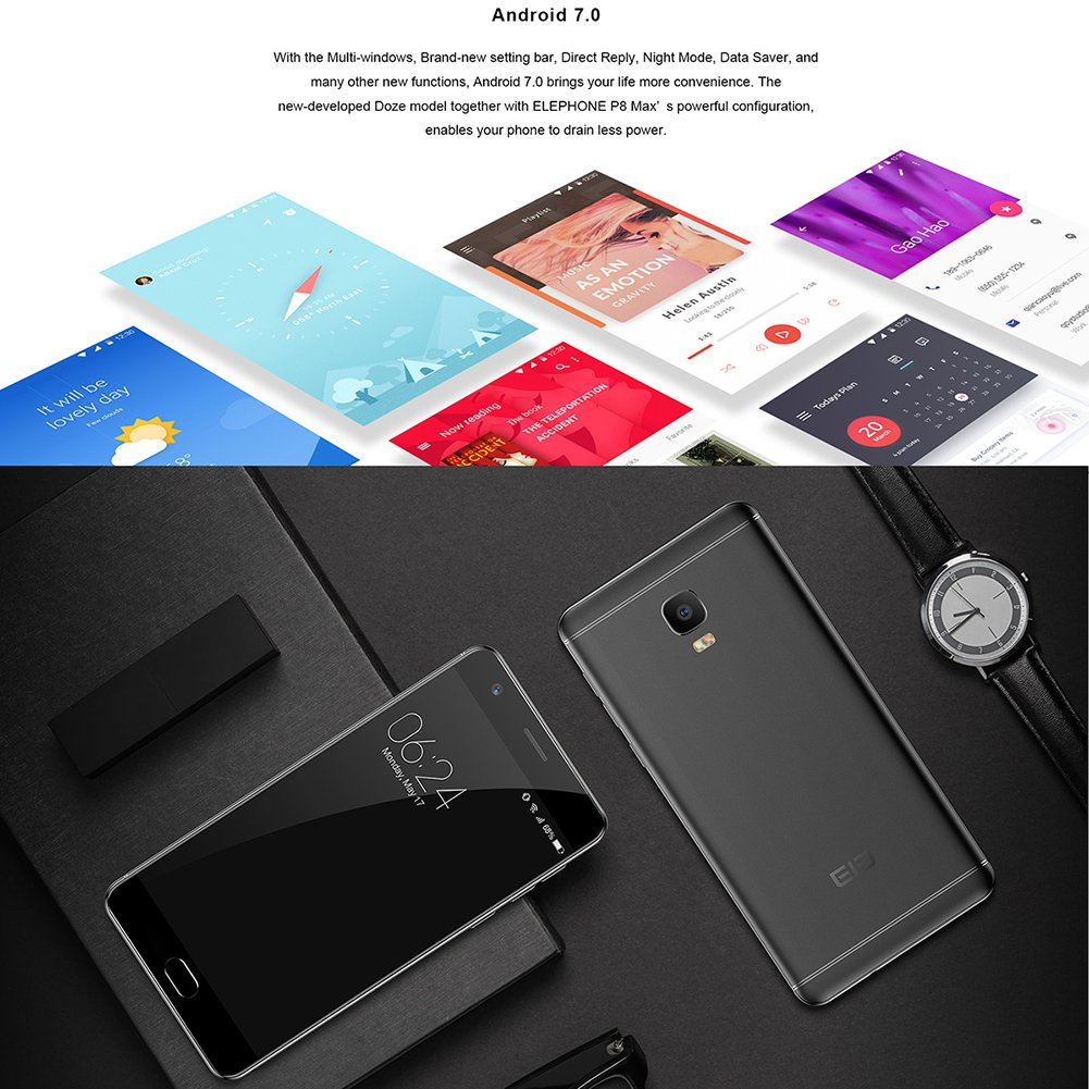 Elephone P8 Max 5.5 1920 x 1080 4 G LTE Smartphone Android 7.0 4 ...