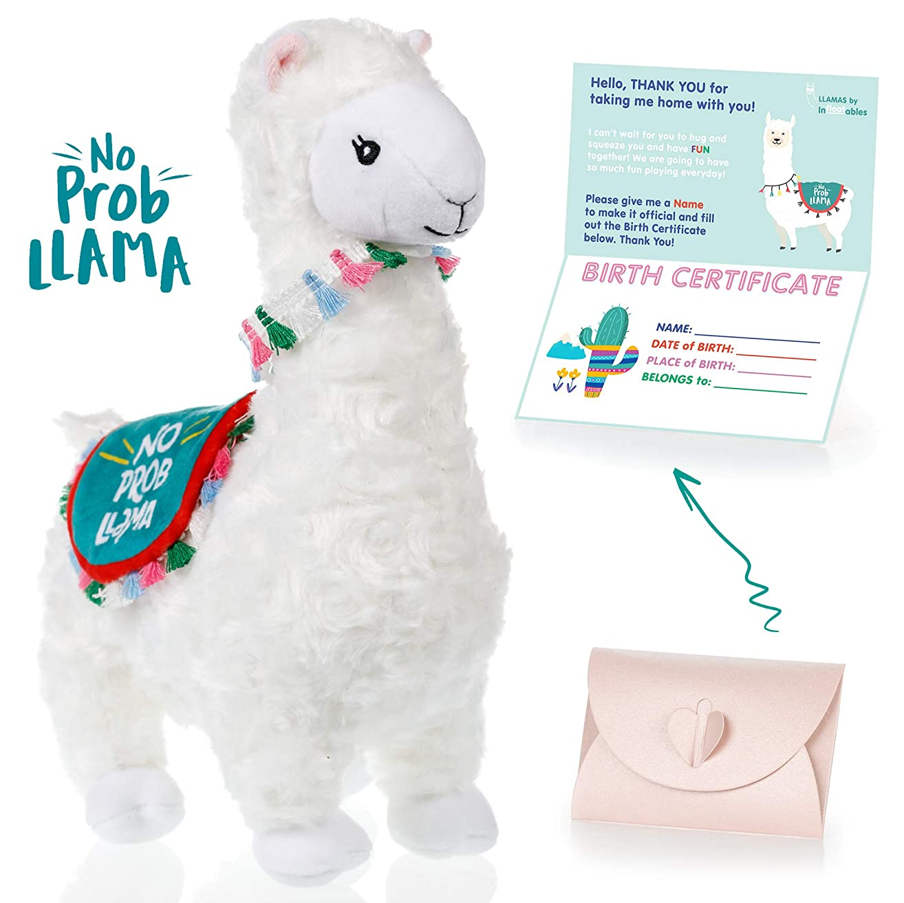 llama stuffed animal - The Original No Prob Llama lama alpaca plush animals toy. Perfect Llama gifts for Baby Showers, Birthdays, Graduation or Christmas. Cute, Fun, Super Soft, and Pre Gift Wrapped!