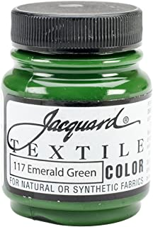 Jacquard Products Textile Color Fabric Paint 2.25-Ounce, Emerald Green