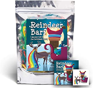 Reindeer Barf - Rainbow Lace Licorice - Funny Unique Christmas Stocking Stuffer Gag Gift for Teens, Girls, Boys and Kids