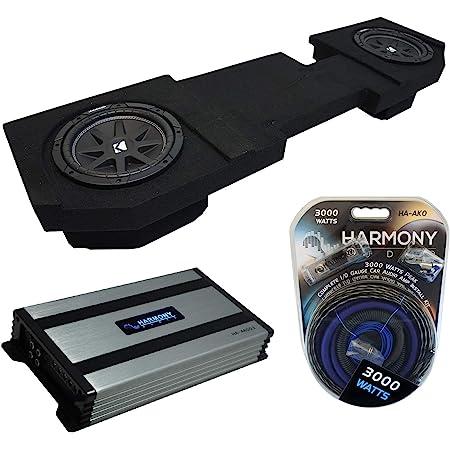 Compatible with 2002-2009 GMC Envoy SUV Harmony Bundle R124 Single 12 Custom Sub Box /& HA-A400.1 Amp