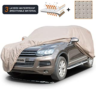 Coverado Thick Shell Car Cover Waterproof Windproof Snowproof All Season Weather-Proof Fit 211