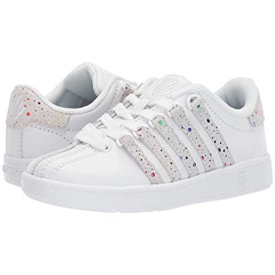 K-Swiss Classic VNtm (Little Kid) (White/Rainbow) Athletic Shoes