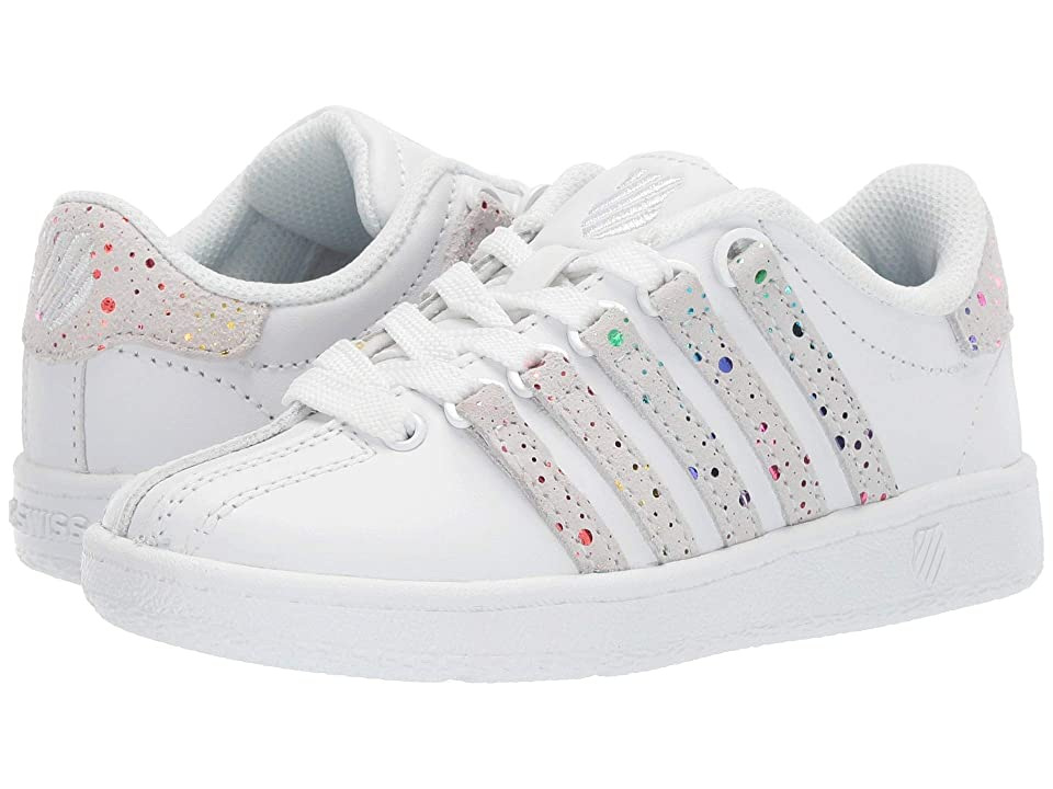 K-Swiss Classic VNtm (Little Kid) (White/Rainbow) Athletic Shoes