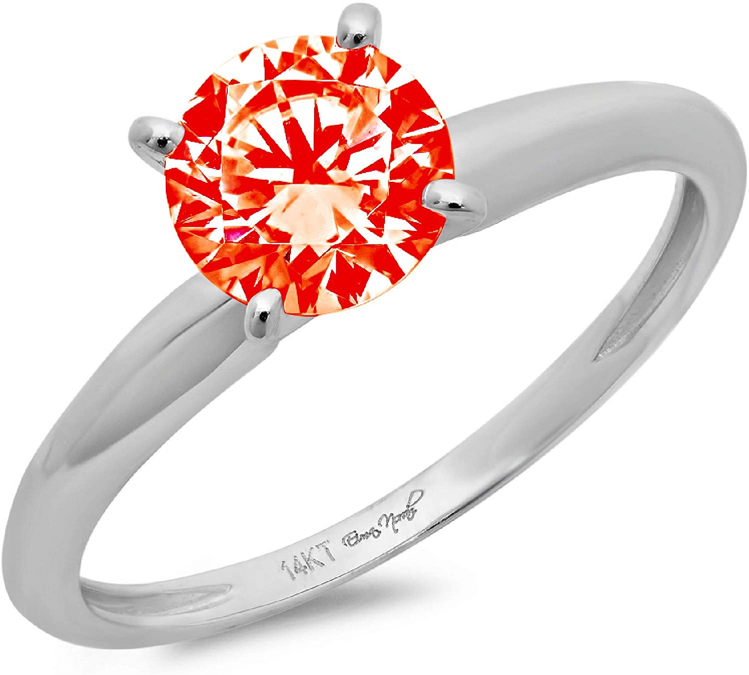 0.6 ct Brilliant Superlatite Round Cut Flawless Stunning Solitaire Simul Choice Red