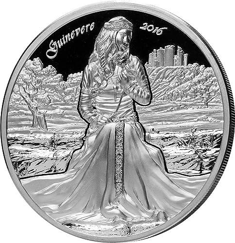 punto de venta Guinevere Ginebra Camelot Knights Round Table 2 2 2 Oz Moneda plata 10  Cook Islands 2016  gran descuento