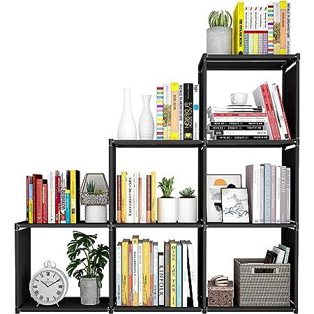 Snazzy Metal Foldable Open Book Shelf, Book Shelve Book Case, Book Rack, Book Storage Organizer for Study Room (Black)