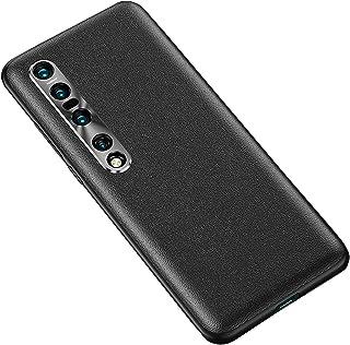 جراب XINKOE لهاتف Xiaomi Mi 10 Pro 5G، TPU + جلد + واقي كاميرا خلفية 3 في 1 مضاد للخدش ومتين لهاتف Xiaomi Mi 10 Pro 5G-Black