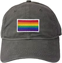 Adult Rainbow Gay & Lesbian Pride Flag Embroidered Deluxe Dad Hat