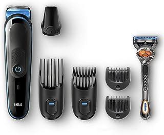 ماكينة حلاقة براون 7 في 1 الكل في واحد، ماكينة حلاقة لتهذيب الشعر مع مشابك للشعر، ماكينة حلاقة تعمل بدقة - MGK5045