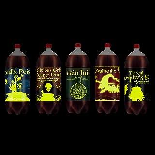 Chillake Halloween Luminous Soda Bottle Labels Stickers, Halloween Slap sticker Soda Decoration, Scary Halloween Party Decor Supplies- Set of 5