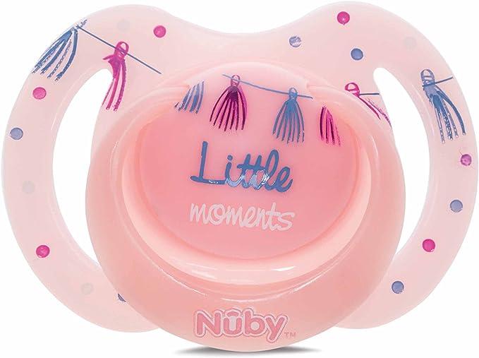Nuby Nûby Pack De 2 Chupetes Little Moments 6-36 Meses Azul, ID5887MFSNBLUE-LM: Amazon.es: Bebé