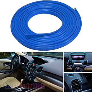 Car Interior Moulding Trim,Auto Parts Club 3D DIY 5 Meter Flexible Interior Exterior Decoration Moulding Trims Strips line Stickers for Auto Accessories(Blue)