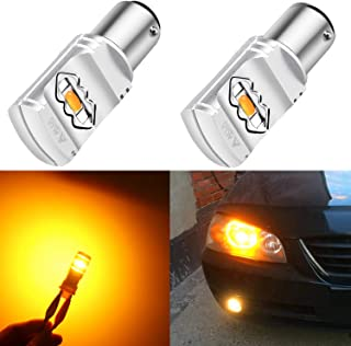 Alla Lighting 3800lm BAY15D 1157 Amber Yellow LED Bulbs Xtreme Super Bright 2357 3496 1157 LED Bulb High Power ETI 56-SMD 12V LED 1157 Bulb for Car Truck Motorcycle Turn Signal Blinker Lights (2pcs)